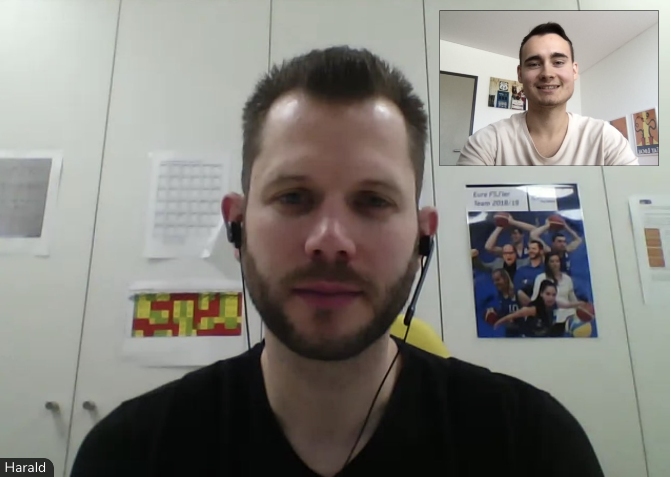 Screenshot vom Interview über Online-Marketing im Sport per Videoanruf