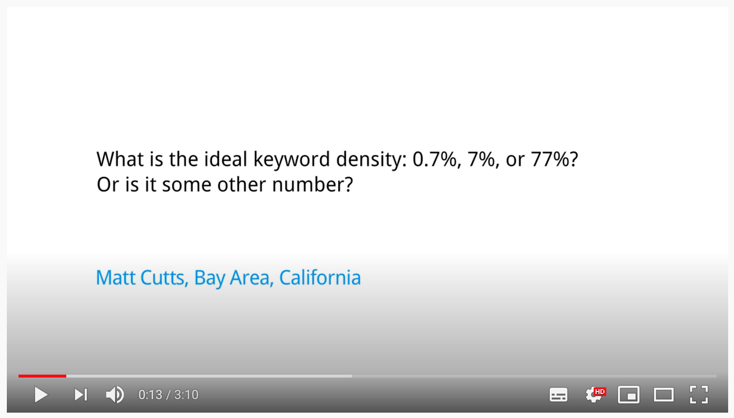 What is the ideal keyword density?