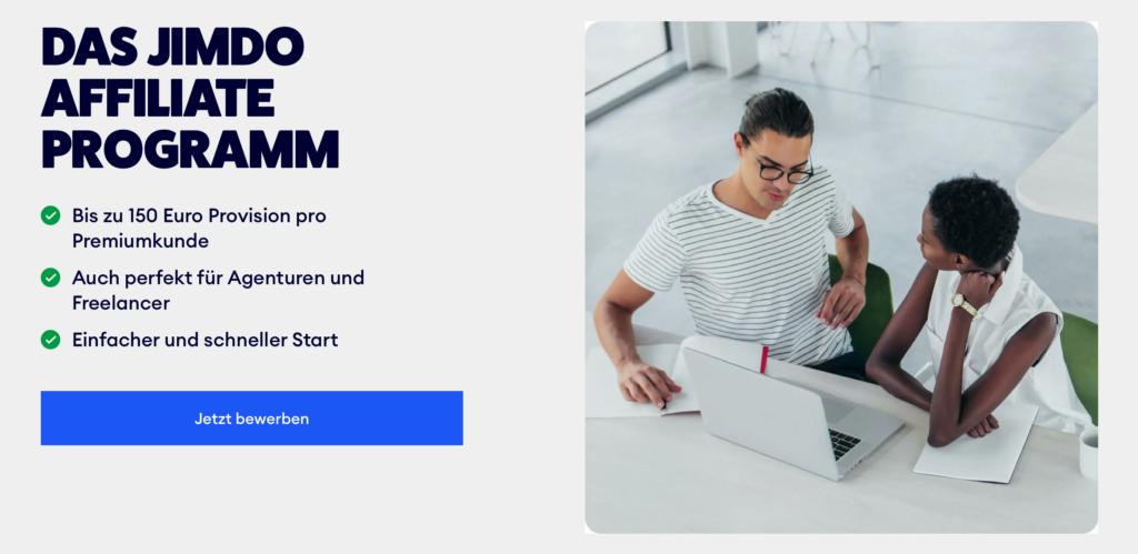 Jimdo bietet Provisionen bis 150 Euro für Webdesigner*innen