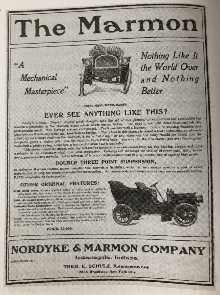 Beispiel für eine Zeitungsanzeige aus dem frühen 20. Jahrhundert. Titel: Have you ever seen anything like this? Werbung für ein Auto.